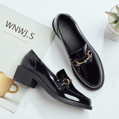 =WHITY=韓國GRAMMI品牌 韓國製  大牌舒適經典新款百搭小圓頭中跟鞋學院風舒適自留S9HB616