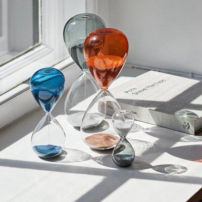 sort丹麥HAY時光沙漏TIME彩色玻璃計時沙漏北歐生活家居裝飾擺件