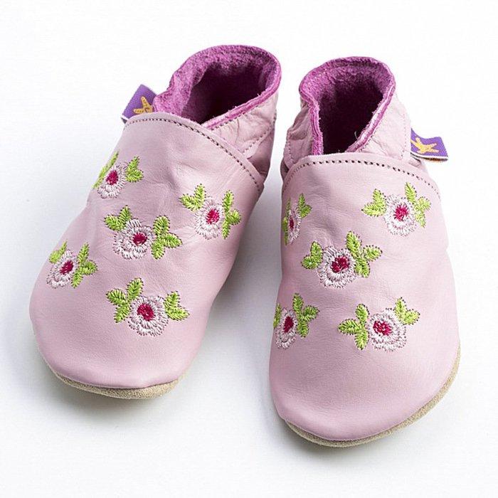 〖洋碼頭〗英國Starchild全牛皮軟底學步鞋玫瑰女孩嫩粉款 L2852