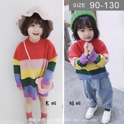 韓版男女童針織衫。ROUROU童裝。春...
