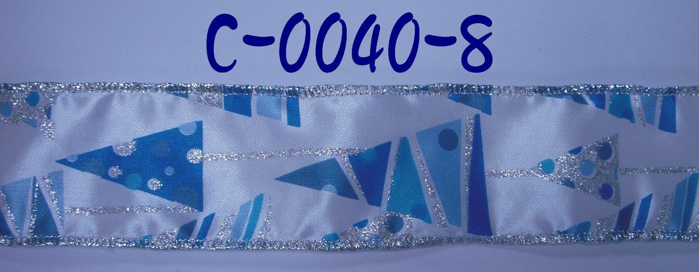 聖誕印刷拷克帶【C-0040-8】~Janes Gift~Ribbon