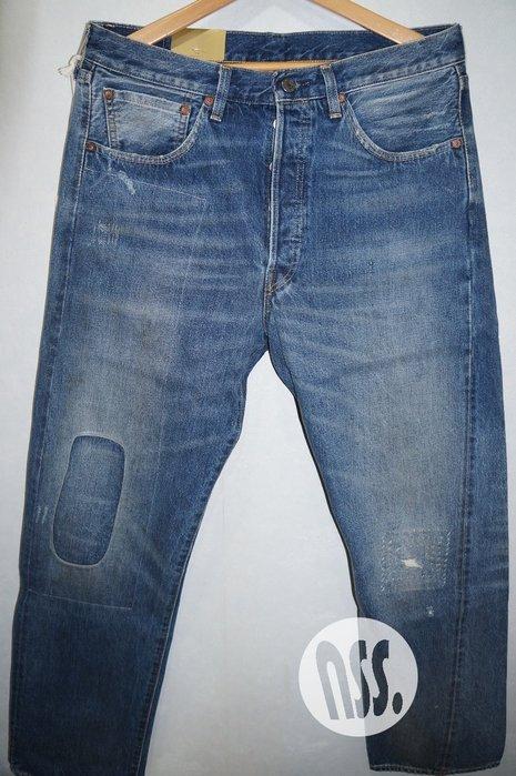 特價「NSS』LEVIS LEVI'S LVC 50155 0048 水洗 破壞 牛仔褲 大E W32 W36