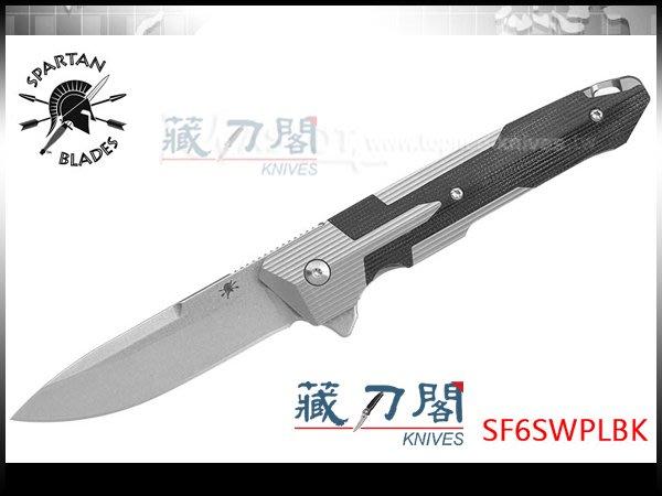 《藏刀閣》SPARTAN BLADES-(KARNOS)鈦+G10柄Flipper折刀