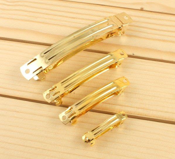 淘淘樂-韓國進口6cm金色手工發飾材料蝴蝶結發夾卡diy邊夾一字彈簧夾頂夾/10件起發貨/多件可議價聯繫即時通