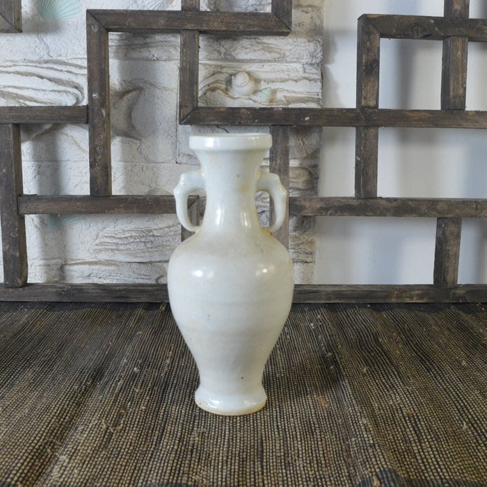 百寶軒 仿古瓷器復古做舊南宋風格影青釉雙耳瓶花瓶擺件古玩古董收藏 ZK1499