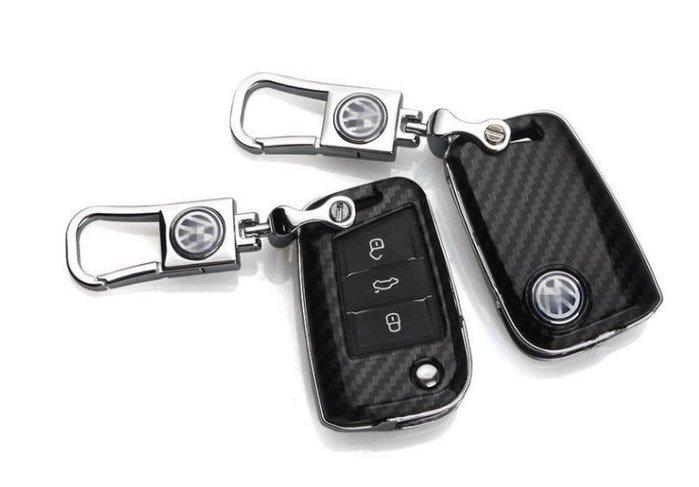 House and Home✘福斯VW 高爾夫golf7 Lamando嘉旅途昂Tiguan碳纖維鑰匙殼鑰匙套扣鑰匙包保