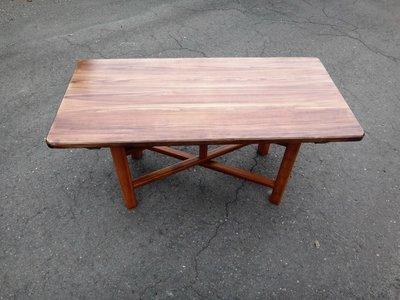 B021 {崙頂傳統原木家具行}~杉木實木合桌《桌面跟桌腳可分開》