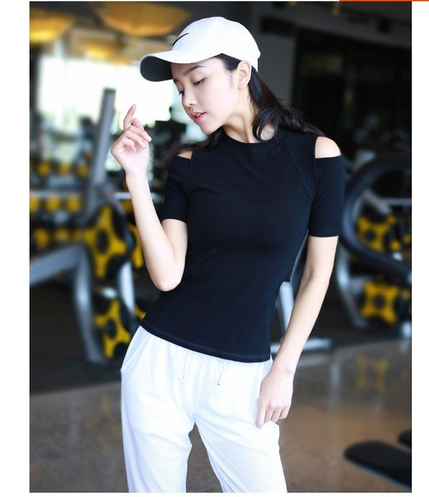 【路依坊】夏天 運動短T 運動短袖 女速乾透氣 瑜伽短袖 跑步t恤 健身上衣 A8222