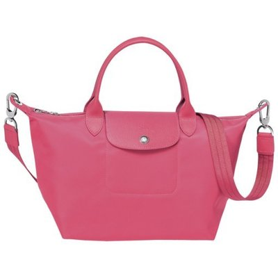 Longchamp Le Pliage neo 系列  厚尼龍短把手提斜背兩用水餃包 粉紅 pink S號短帶 新北市