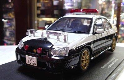 autoart 1/18。Subaru Impreza WRX STI Japanese Police Car。原盒
