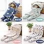 日系保暖雙層羊羔絨嬰兒分腿式睡袋/包巾/包毯/防踢被 0-8個月(小號)