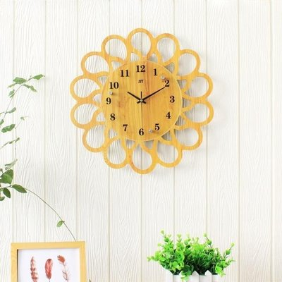 哆啦本鋪 歐式石英掛鐘 臥室鐘表掛鐘現代簡約家用大氣客廳藝術時尚 9665D655