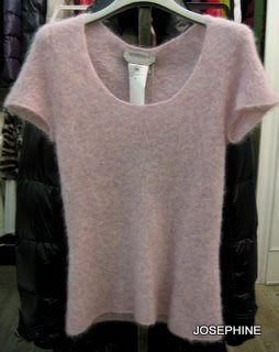 喬瑟芬【SPORTMAX】特價$6000含運~粉紫色 毛海  圓領短袖毛衣(M號)