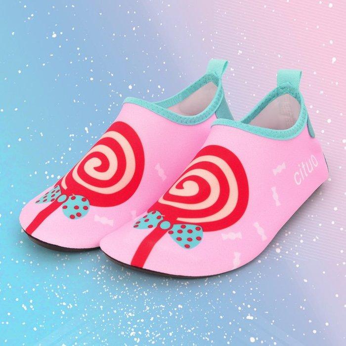 小花花精貨店-兒童沙灘襪鞋寶寶女游泳溯溪潛水浮潛鞋軟底貼膚鞋防滑防刺#沙灘鞋