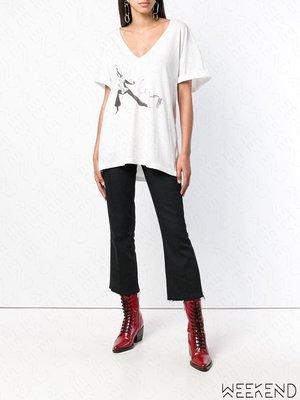 【WEEKEND】 REDEMPTION 低胸 寬鬆 短袖 上衣 T恤 白色 可拉斜肩 18秋冬