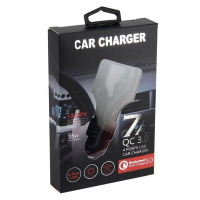 Car charger 7A_4 Port usbQualcomm Quick charger 3.0