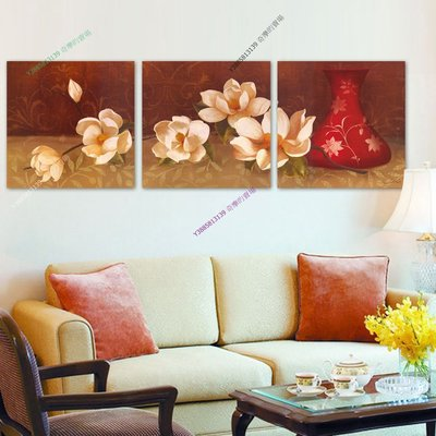 【40*40cm】【厚1.2cm】經典花卉-無框畫裝飾畫版畫客廳簡約家居餐廳臥室牆壁【280101_111】(1套價格)