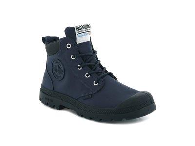 =E.P=PALLADIUM PAMPA LITE+ CUFF WP 防水 輕量 軍靴 藍黑 男女 76259-458