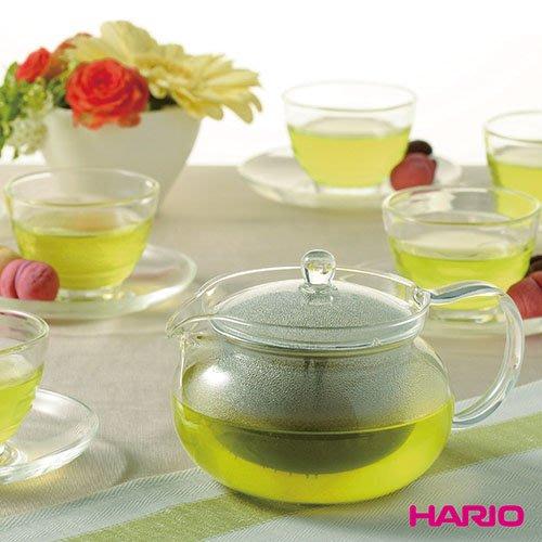 [新品現貨]【HARIO】茶茶急須一壺六杯盤組(附濾網丸形茶壺、玻璃湯吞杯、玻璃茶盤)