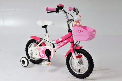 正版Hello Kitty12吋多功能高把兒童腳踏車+滑步車/台灣製橡膠充氣胎
