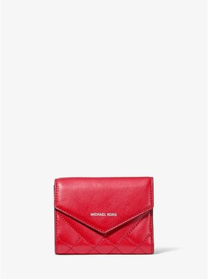 2999含運-MICHEL KORS-皮夾-Small Quilted Leather Envelope Wallet