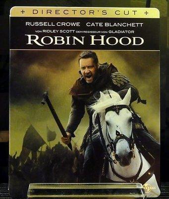 【BD藍光】羅賓漢 導演版 : 環球影業100周年限定鐵盒版Robin Hood(中文字幕) 羅素克洛