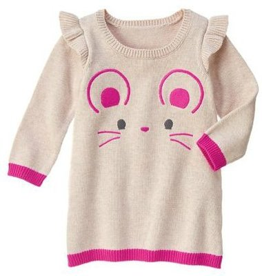 *DORA BABY*Gymboree 全新正貨 3Y小女生針織毛衣洋裝 (小老鼠+ 米麥色)【現貨】