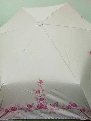 天使熊雜貨小舖~日本帶回(粉)玫瑰摺疊雨傘  全新現貨