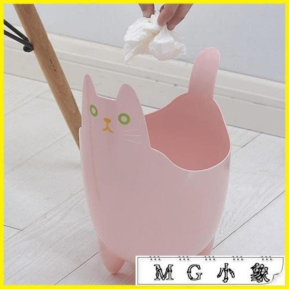 創意桌面垃圾桶可愛逗趣貓咪迷你 尚美優品