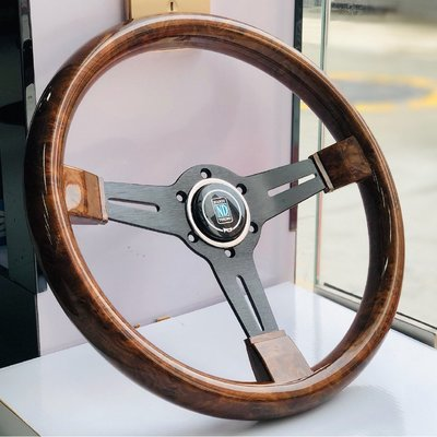 Car modified mahogany steering wheel Retro 14 inch steering    愛麗小屋@店 wdf