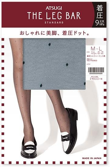 【拓拔月坊】厚木 THE LEG BAR STANDARD 著壓 水玉點點 絲襪 日本製~現貨!
