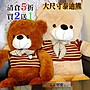 泰迪熊家族 120公分大尺寸毛衣泰迪熊兩個顏色任選出清庫存5折特價 買一對大熊送一隻120公分小熊 情人節生日最佳贈禮