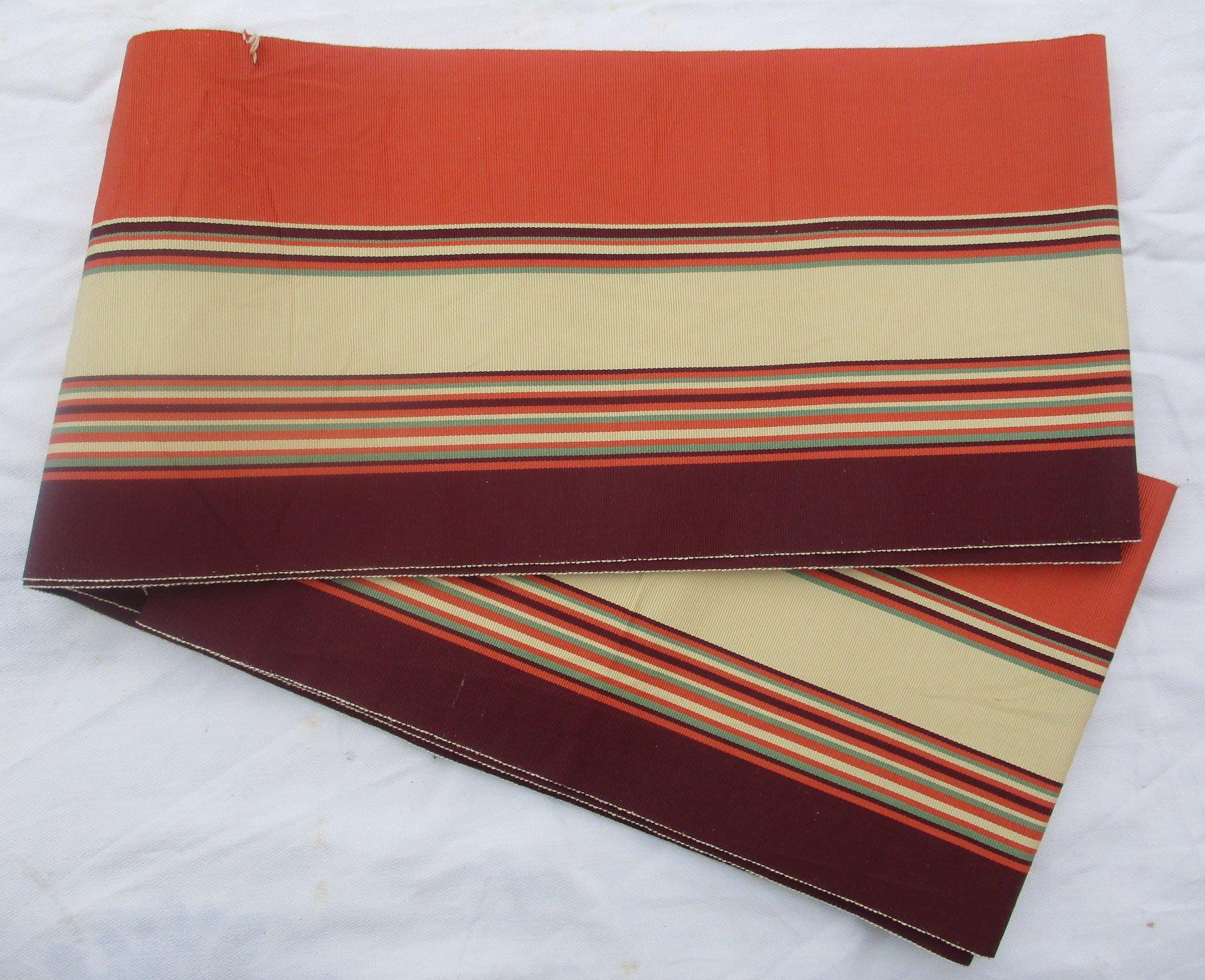 日本和服腰帶-單層多色橫紋-六吋半幅帶-(JD-767-X)
