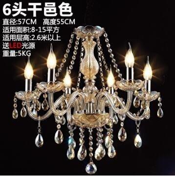 吊燈歐式水晶現代客廳簡約餐廳燈大氣蠟燭水晶燈簡歐復古燈具