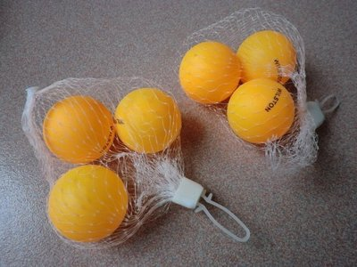 【nike100m】桌球 乒乓球 比賽用球 黃色 一組3顆裝 優惠價20元