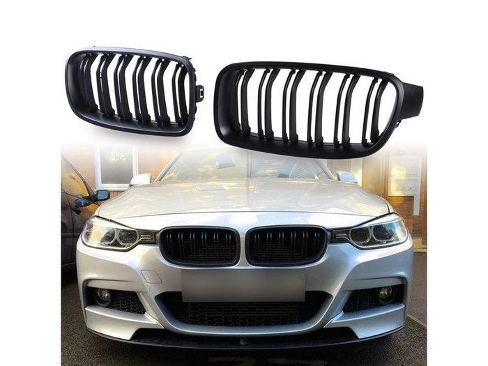 BMW 寶馬3系列 F30 F31 適用 M3造型 ABS水箱罩 鼻頭水箱護罩中網水柵 - 消光黑 GR-27016