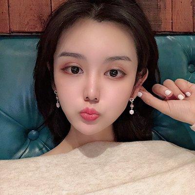 韓國Baby~超仙精致法式耳環女長款氣質韓國超仙耳釘精致網紅耳墜高級感耳飾