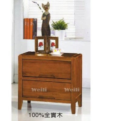 6F【新北蘆洲~偉利傢俱】黃花梨色床頭櫃(木軌)-編號(F201-6)【雙北市免運費】