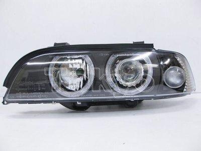 ※Tokyo東京車燈部品※BMW 5系 E39 95仿01 光圈魚眼黑底大燈 DEPO製