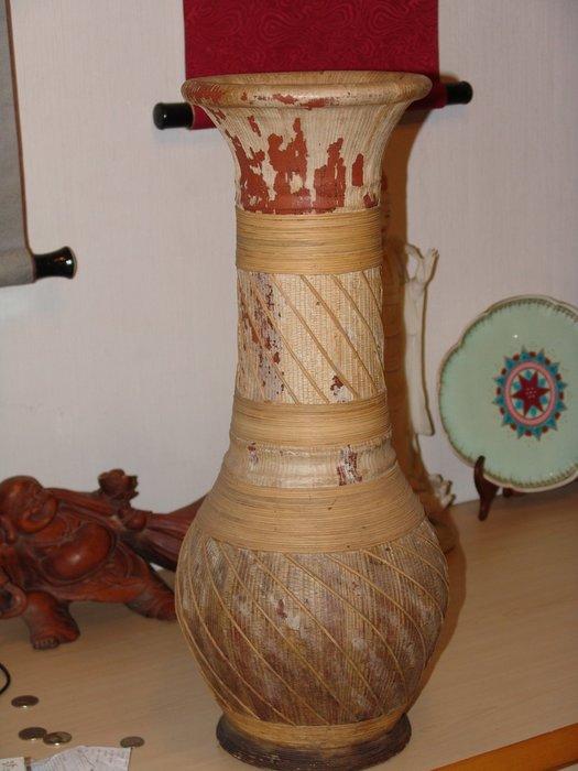 阿國的收藏˙˙台灣早期˙˙紅磚胎˙˙大花瓶
