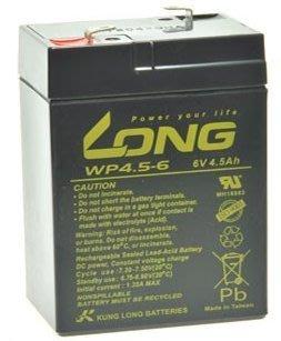 $蜜桃電力站$廣隆 LONG WP4.5-6 6V 4.5AH UPS 鉛酸蓄電池(適用緊急照明,兒童玩具車)