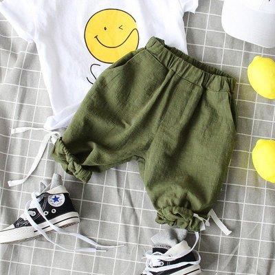 【Mr. Soar】 **清倉** G340 夏季新款 韓國style童裝男童棉麻短褲五分褲 現貨