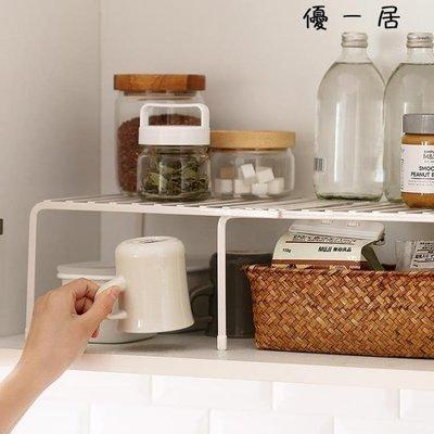 懶角落 可伸縮廚房置物架廚房多層收納單層架鍋架儲物調料架65911Y-優思思