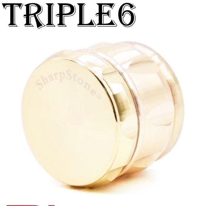 【Triple6】🚚免運 原裝進口 63MM SharpStone 研磨器 鋅合金 四層 側凹 Grinder