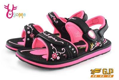 GP涼鞋 女款 花漾系列 磁扣兩穿防水涼鞋 I6747#黑桃OSOME奧森童鞋