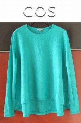 ☆一身衣飾☆ 瑞典品牌【COS / H&M】碧綠色 3D衣擺 100%羊毛 傘型針織衫~直購價290~💐 5/24