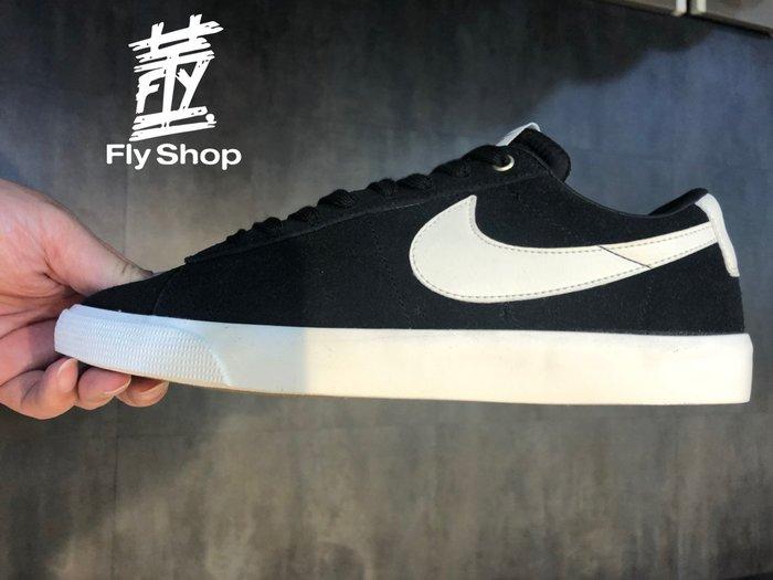 [飛董] NIKE SB ZOOM BLAZER LOW GT 麂皮 滑板鞋 男女鞋 704939-001 黑白