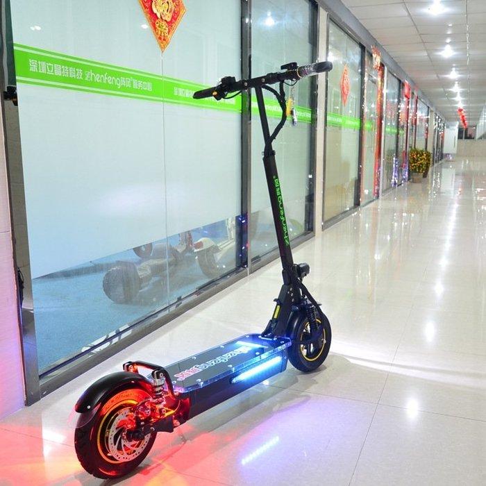 大馬力 大型電動滑板車48V800W,IP65防水,含座椅,載重200公斤,防盜,續航39公里,3減震雙碟剎摩托車自行車