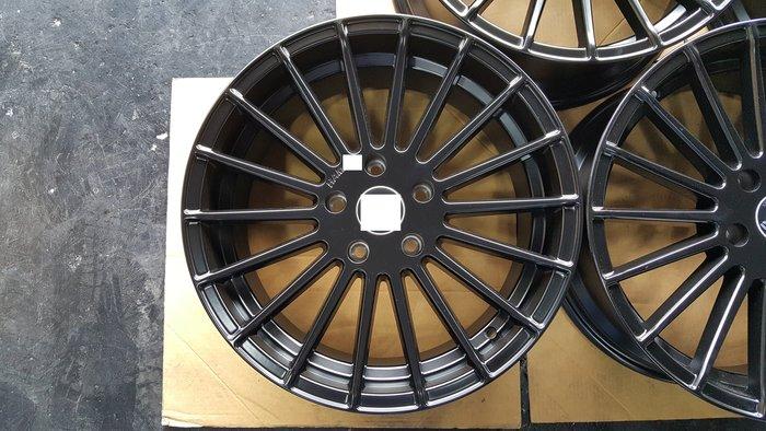 18吋類H牌鋁圈消光黑放射式樣BMW.E46.E87.F20.F30.F31.F34.X1.X3.X4.MINI.R60