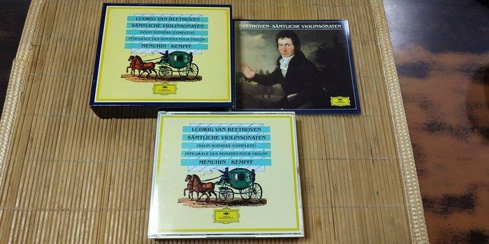 好音悅 全銀圈 Menuhin Kempff Beethoven 貝多芬 小提琴奏鳴曲 DG 4CD 德版 無IFPI
